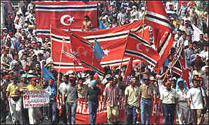 A previous rally held by Acehnese in Jakarta