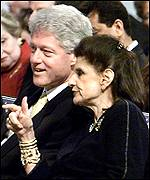 President Clinton and Leah Rabin in 1999