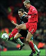 Stephane Henchoz and Craig Bellamy