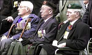 Veterans at the Cenotaph in London