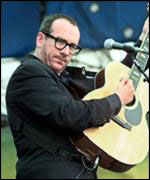Elvis Costello waited in the cold and dark