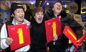 Beatles fans at HMV