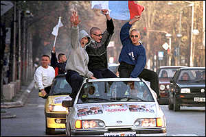 Bosnian Serbs, supporters of the SDS party