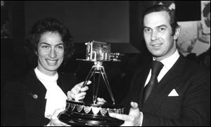 Virginia Wade and Prince Michael of Kent
