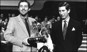 Steve Ovett (left) and Prince Charles