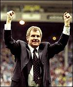 Royle celebrates promotion to the Premiership