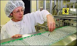 Worker at a GlaxoSmithKline factory in Germany