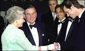 Carrey meeting the Queen
