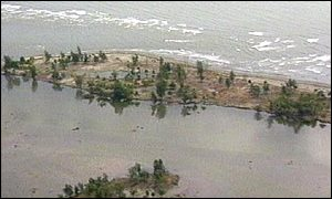 Earlier tsunami in PNG which devastated coastal regions