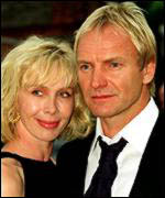 Sting live with wife Trudie and their children