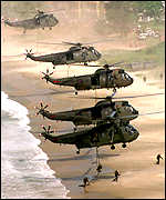 British helicopters - Ministry of Defence handout photo