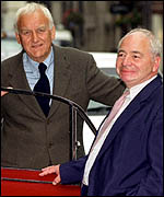 Colin Dexter with Morse actor, John Thaw