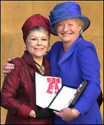 Mary with actress Dame Dorothy Tutin