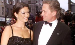 Zeta Jones and Michael Douglas