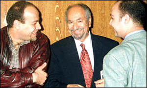 Mr Ibrahim with two unidentified defendants