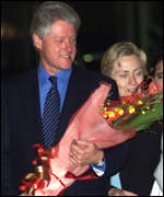 Mr Clinton and his wife Hillary