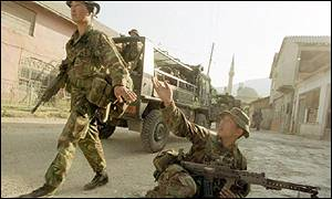 Gurkha troops in Kosovo