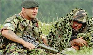 UK and French soldiers in Bosnia