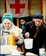Sarajevans relied on the Red cross during the war