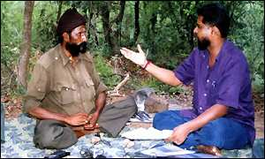 Veerappan with negotiator Gopal last year