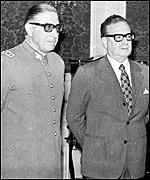 General Pinochet and President Allende