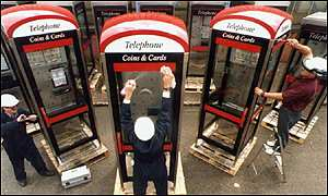 3 BT phone boxes