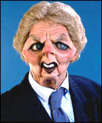 Thatcher Spitting Image puppet