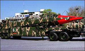 Pakistani missile on trailer