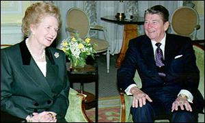 Maragret Thatcher and Ronald Reagan