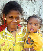 Sidi woman and child