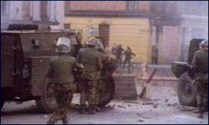 British soldiers opened fire on Bloody Sunday