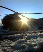 Russian helicopter on ground