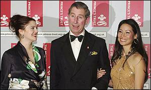 Drew Barrymore, Prince Charles and Lucy Liu