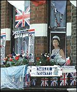 Window decked out for 1977 Silver Jubilee