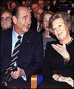 President Chirac of France and Queen Beatrix of Netherlands
