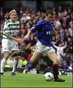 Ferguson slots the ball past Rab Douglas