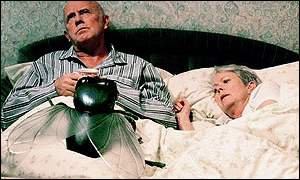 Victor (Richard Wilson) and Margaret (Annette Crosbie) Meldrew