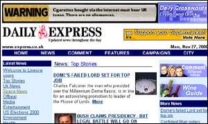 Express website