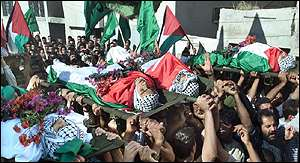 Funerals for five Palestinians killed overnight