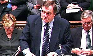 John Prescott in the Commons