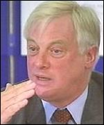 Chris Patten has lent his support to the policing legislation