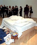 Tracy Emin's soiled bed