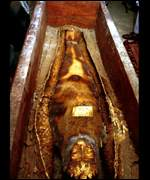 Mummy on display