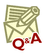 Q and A badge graphic