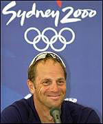UK rower Steve Redgrave after winning an Olympic gold