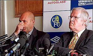 Ray Wilkins and Chelsea managing director Colin Hutchinson