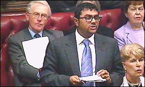 Lord Alli speaking in the House of Lords in February 2000