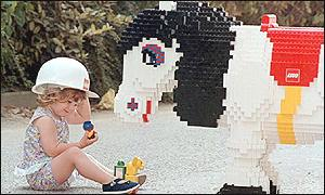 Child with a Lego horse