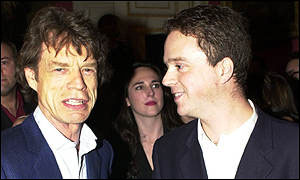 Sean Thomas and Mick Jagger