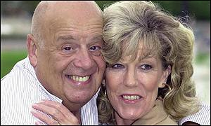John Savident with actress Sue Nicholls